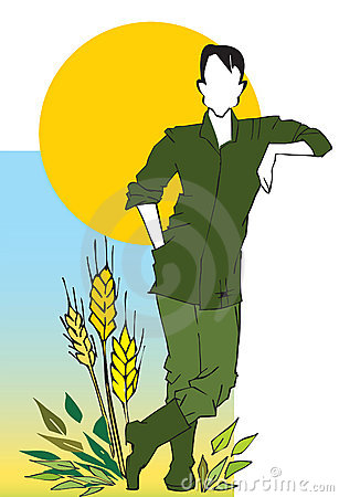 Farmer,Agriculturist, Cartoon