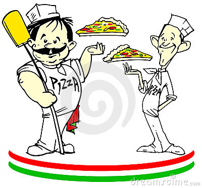 Free Job Series - Pizzaiolo With Pizza Royalty Free Stock Photos - 9601608