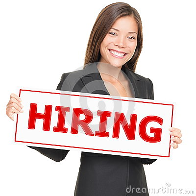 Job woman hiring