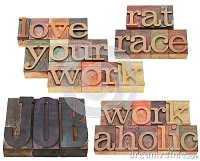 Job, workaholic and rat race