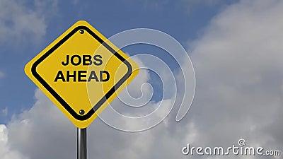 Jobs ahead Stock Photo