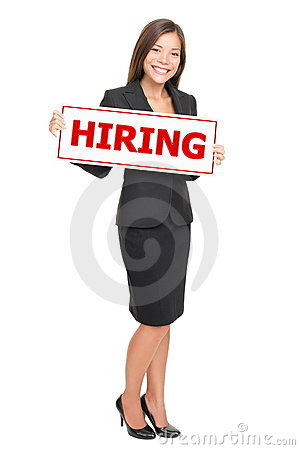 Jobs - businesswoman hiring