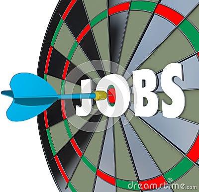 Jobs Career Dartboard Dart Successful Employment