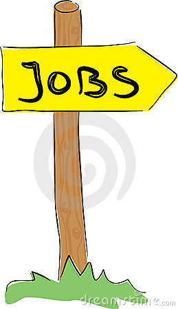 Jobs direction sign.