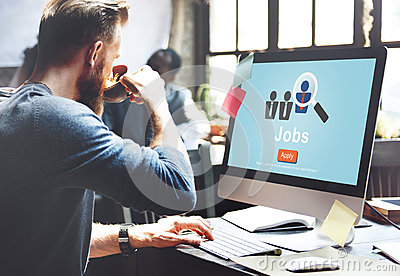 Jobs Hiring Occupation Recruitment Work Careers Concept Stock Photo