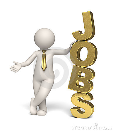 Jobs icon - gold - 3d business man