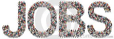 Jobs, job working recruitment employees multi ethnic group of pe Stock Photo