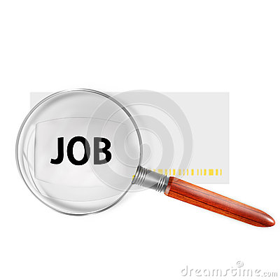Jobs symbol with lupe
