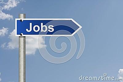 Jobs this way Stock Photo