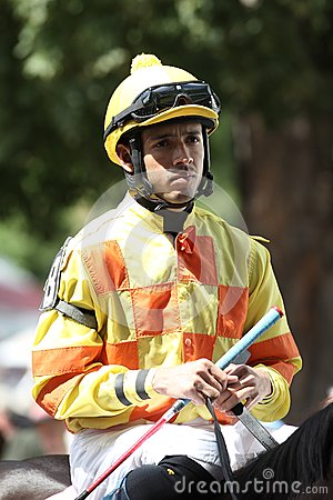 :Jockey Eddie Castro Editorial Stock Image