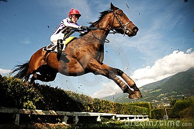 Jockey on horse Editorial Photo