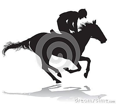 Jockey on a horse 4