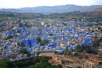 Jodhpur the blue city in Rajasthan  in Indi