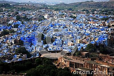Jodhpur the blue city in Rajasthan, Indi