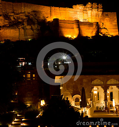 Jodhpur Castle & Raas Hotel Editorial Stock Image