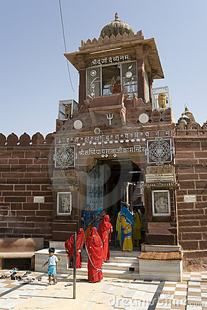 Jodhpur - Sachiya Mata Hindu Temple - India Editorial Photography