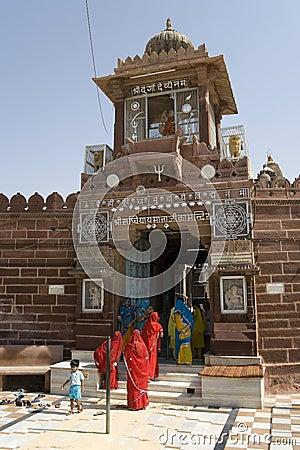 Jodhpur - Sachiya Mata Hindu Temple - India Editorial Photography