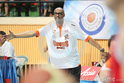 Joe Bryant head coach of Sports Rev Thailand Slammers planing competitions in an ASEAN Basketball League