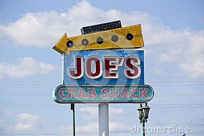 Joe does crabs Editorial Stock Photo