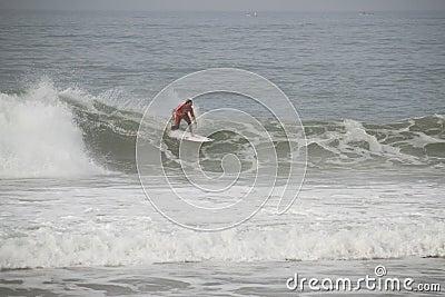 Joel Parkinson riding a wave Editorial Stock Photo