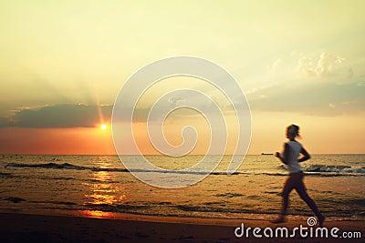 Jog on the beach