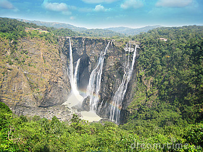 Jog water falls at shimoga, karnataka