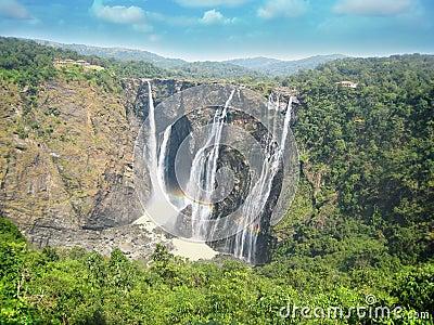 Jog water falls at shimoga, karnataka
