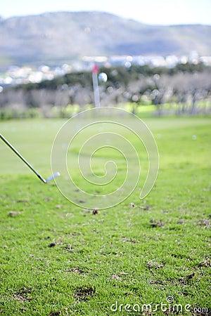 Jogador de golfe na ação