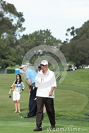Jogador de golfe profissional intermediário de Rocco Foto Editorial