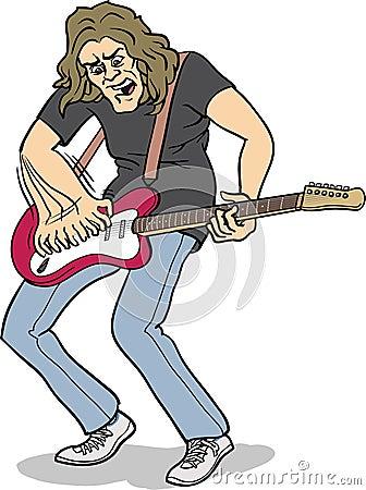 Jogador de guitarra pesado da rocha