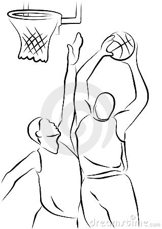 how to draw a cartoon basketball player shooting