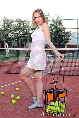 Jogando o tênis