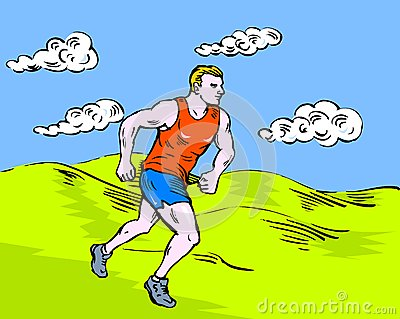 Jogger marathon runner race