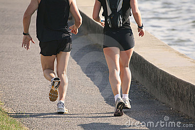 Jogging Couple Training Run