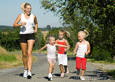 Jogging with the family