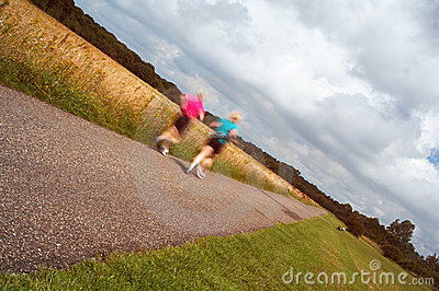 Jogging females