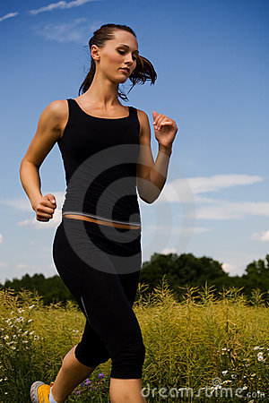 Free Jogging Girl 2 Stock Photography - 5558942