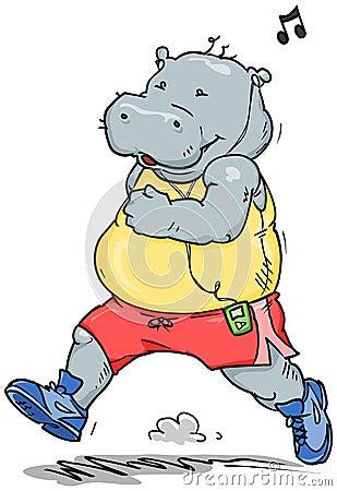 Jogging Hippo