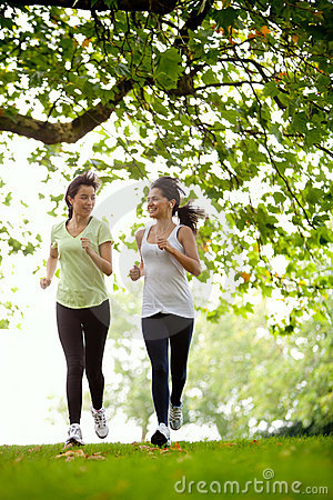 Jogging outdoors women