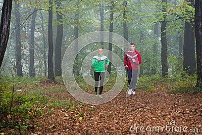 Jogging in pair