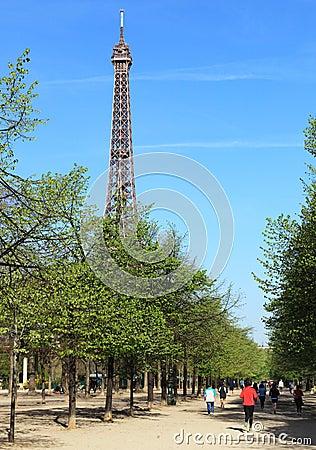 Jogging in Paris Editorial Image