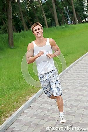 Jogging sport man