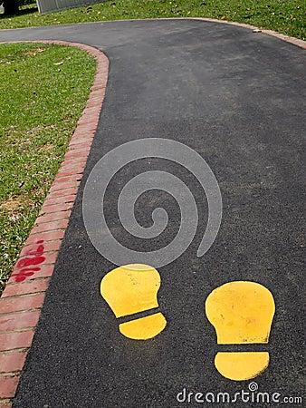 Jogging track in park
