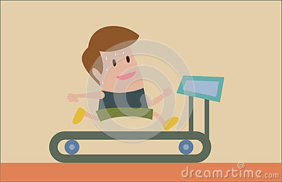 Jogging on Treadmill