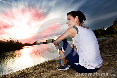 Jogging Woman Royalty Free Stock Photos - Image: 27215818