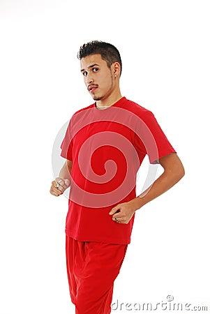Jogging young man