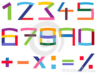 Jogo colorido do número