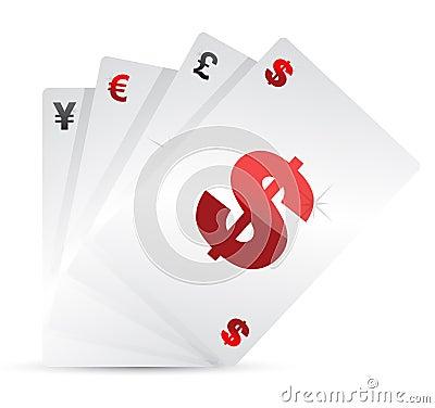 Jogo de cartões da moeda