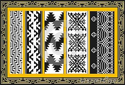 Jogo de testes padrões indianos americanos antigos