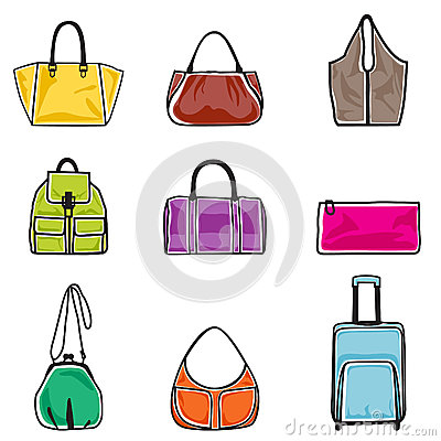 Jogo do ícone dos sacos